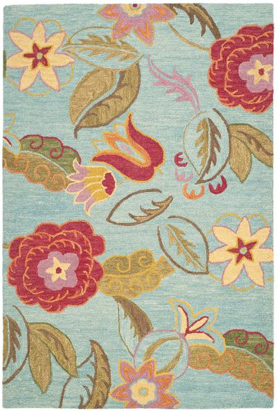 Safavieh Blossom Blm675a Blue And Multi Area Rug Free