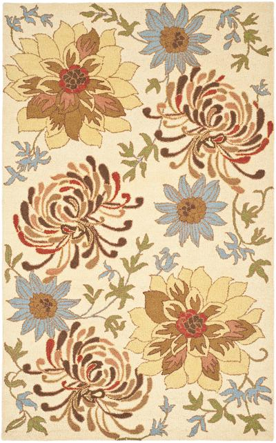 Safavieh Blossom BLM732A Beige and Multi area rug