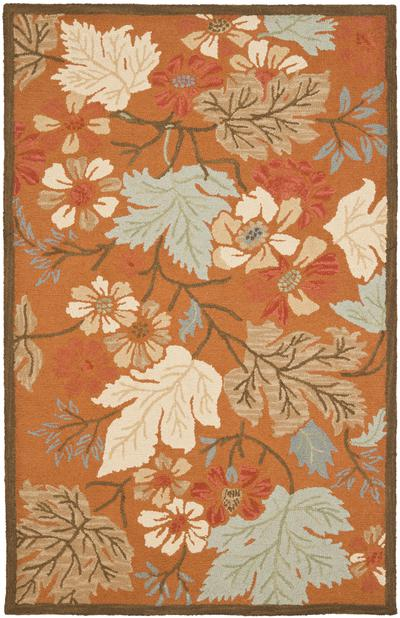 Safavieh Blossom BLM917A Rust and Multi area rug