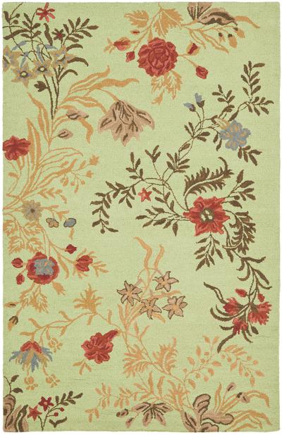 Safavieh Blossom BLM919A Light Green and Multi area rug