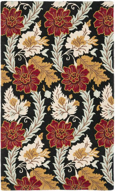 Safavieh Blossom BLM921A Black and Multi area rug