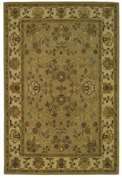 Safavieh Bergama BRG135B Khaki and Ivory