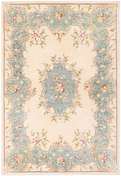Safavieh Bergama BRG166A Ivory and Light Blue area rug