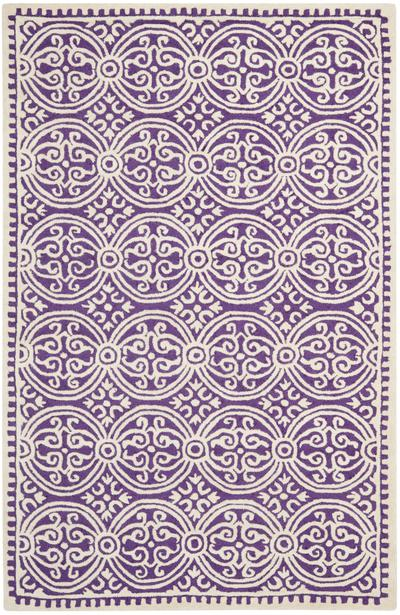 Safavieh Cambridge CAM123K Purple and Ivory