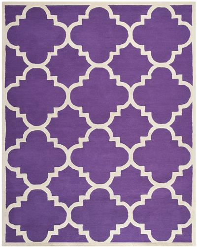 Safavieh Cambridge CAM140K Purple and Ivory