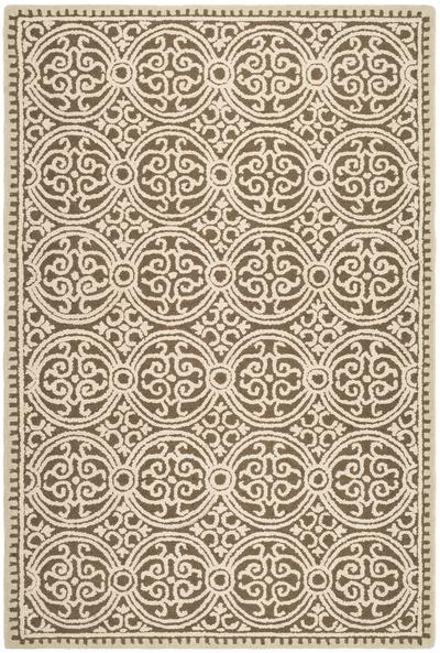 Safavieh Cambridge CAM232A Brown and White area rug