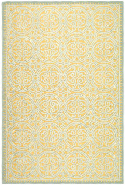Safavieh Cambridge CAM234A Blue and Gold area rug