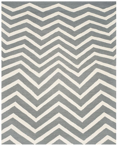 CAM714D Dark Grey and Ivory Area Rug