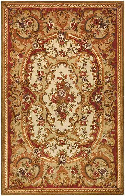 Safavieh Classic CL222B Ivory and Red area rug