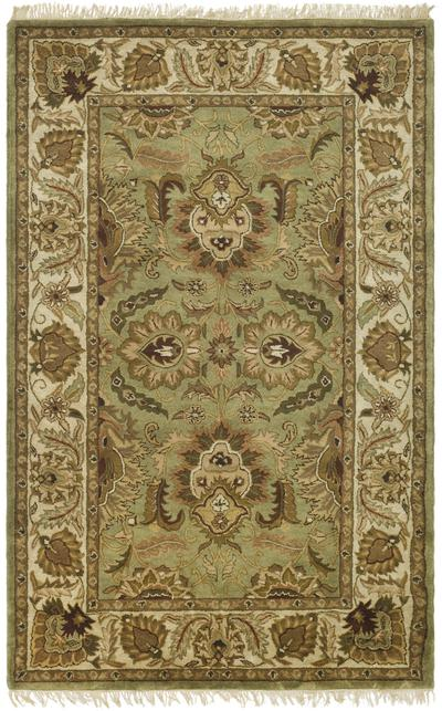 Safavieh Classic CL239D Green and Ivory