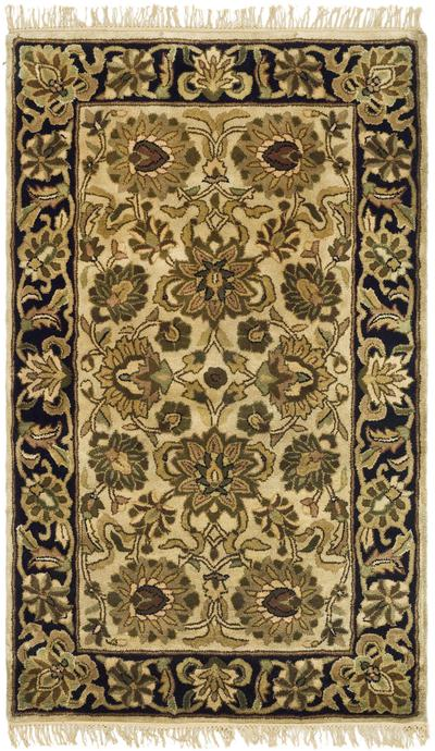 Safavieh Classic CL254B Ivory and Black area rug