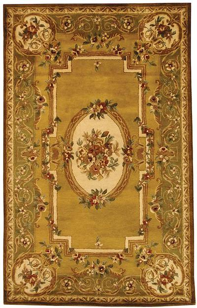 Safavieh Classic CL280A Light Gold and Green area rug