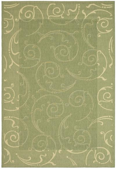 Safavieh Courtyard CY2665-1E06 Olive and Natural