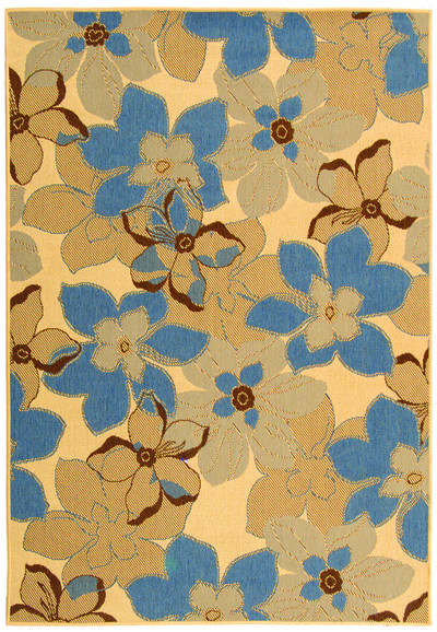 Safavieh Courtyard CY4022B Natural Brown and Blue