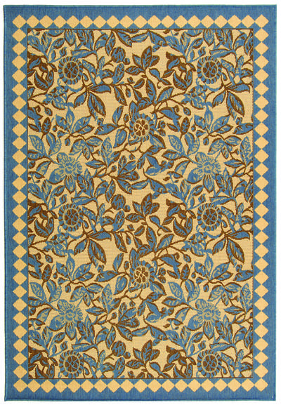 Safavieh Courtyard CY4025B Natural Brown and Blue