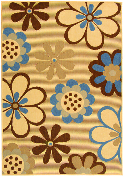 Safavieh Courtyard CY4035B Natural Brown and Blue area rug