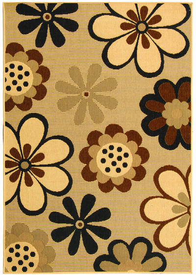 Safavieh Courtyard CY4035D Natural Brown and Black