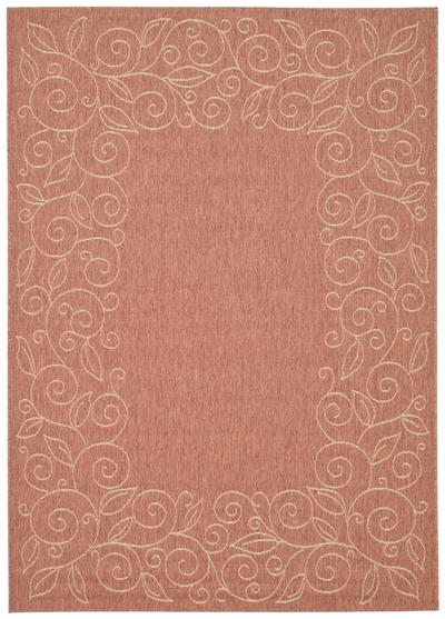 Safavieh Courtyard CY5139A Rust and Sand area rug
