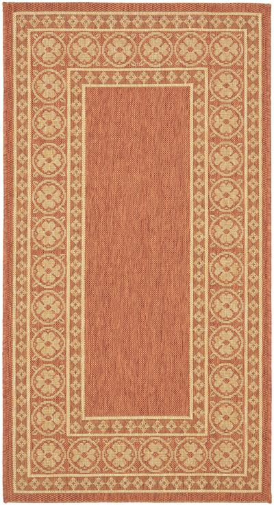 Safavieh Courtyard CY5140A Rust and Sand