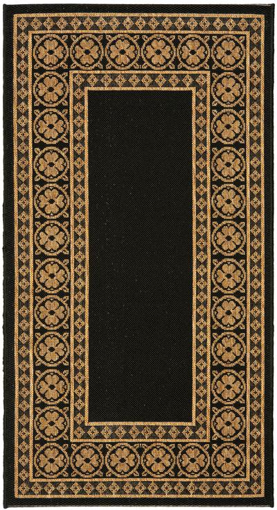 Safavieh Courtyard CY5140G Black and Coffee area rug