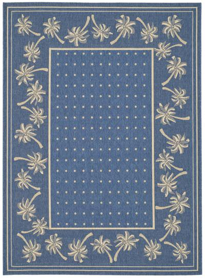 Safavieh Courtyard CY5148C Blue and Ivory