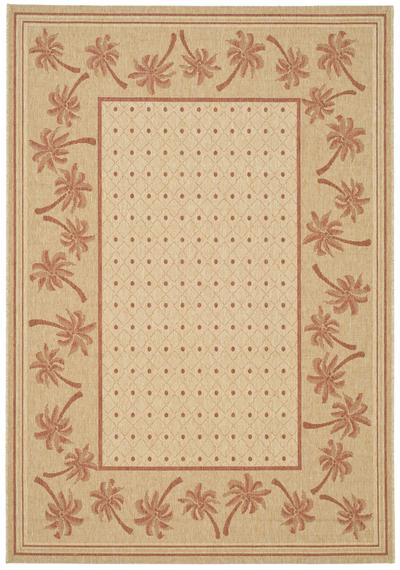 Safavieh Courtyard CY5148J Ivory and Rust area rug