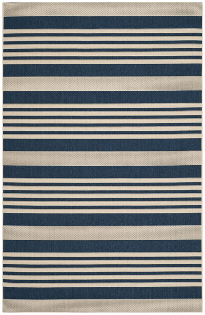 Safavieh Courtyard CY6062-268 Navy and Beige