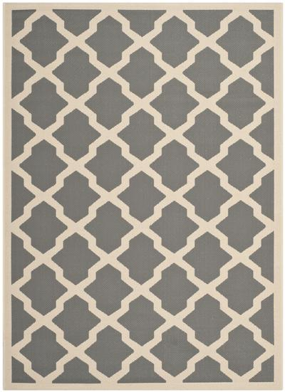 Safavieh Courtyard CY6903-246 Anthracite and Beige
