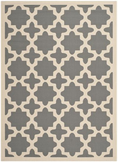 Safavieh Courtyard CY6913-246 Anthracite and Beige