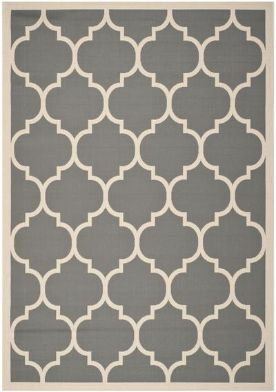 Safavieh Courtyard CY6914-246 Anthracite and Beige