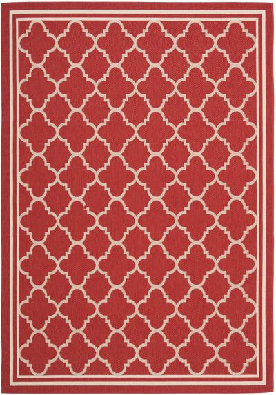 Safavieh Courtyard CY6918-248 Red and Bone