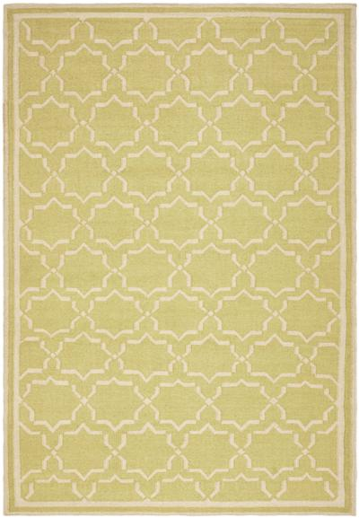 Safavieh Dhurries DHU545C Light Green and Ivory