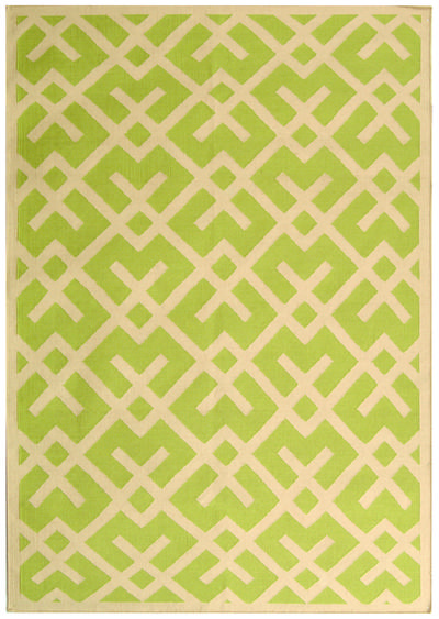 Safavieh Dhurries DHU552A Light Green and Ivory