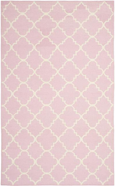 Safavieh Dhurries DHU554P Pink and Ivory