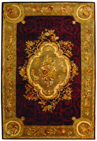Safavieh Empire EM414A Dark Red and Dark Beig area rug