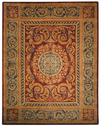 Safavieh Empire EM421A Burgundy and Gold area rug