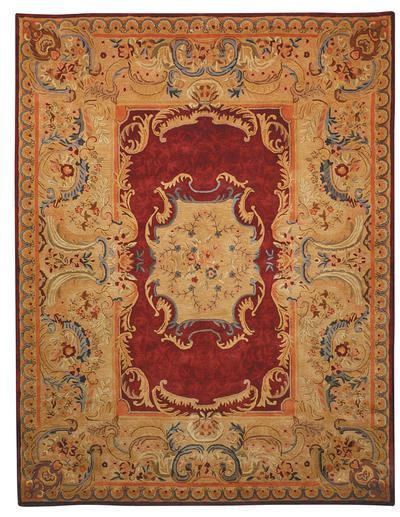 Safavieh Empire EM422A Burgundy and Gold
