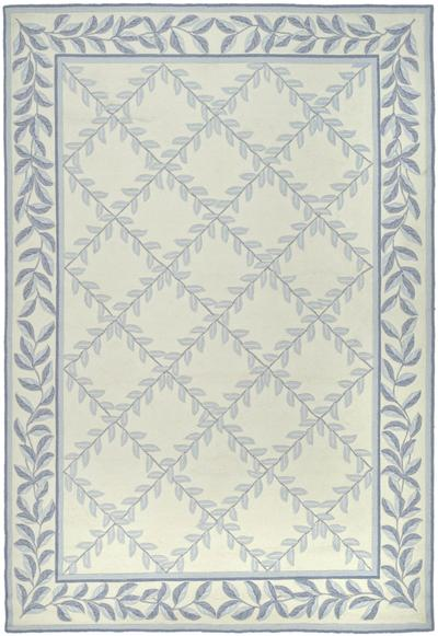 Safavieh DuraRug EZC430A Ivory and Light Blue area rug