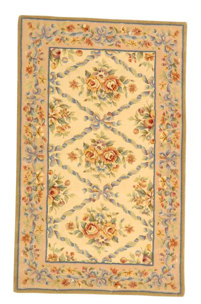 Safavieh French Tapis FT210B Ivory and Light Peach