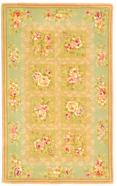 Safavieh French Tapis FT211B Sand and Green