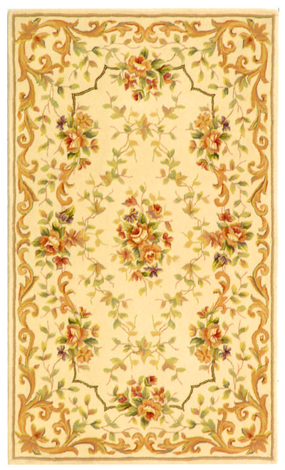 Safavieh French Tapis FT217B Ivory and Ivory