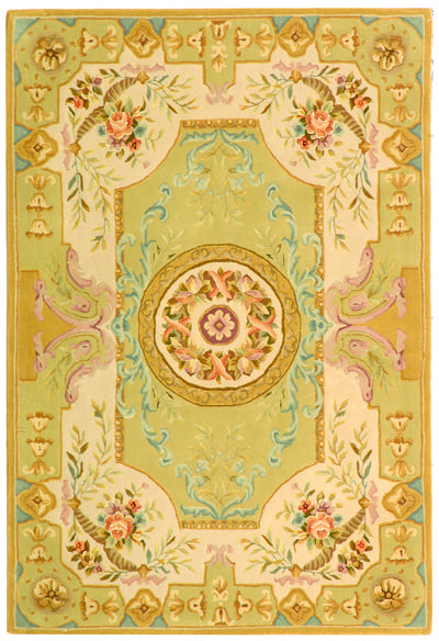 Safavieh French Tapis FT223A Soft Green and Beige area rug
