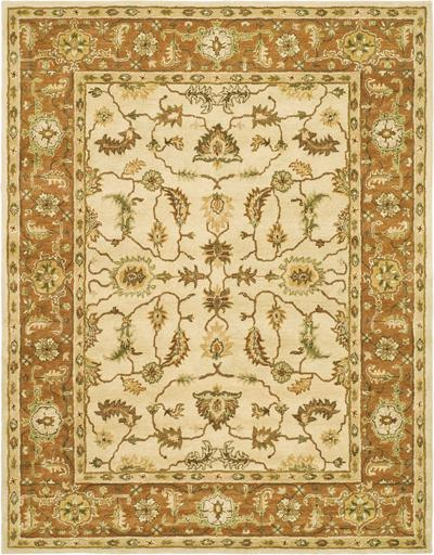 Safavieh Heritage HG251A Beige and Rust area rug