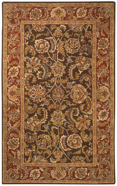 Safavieh Heritage HG759M Olive and Red area rug
