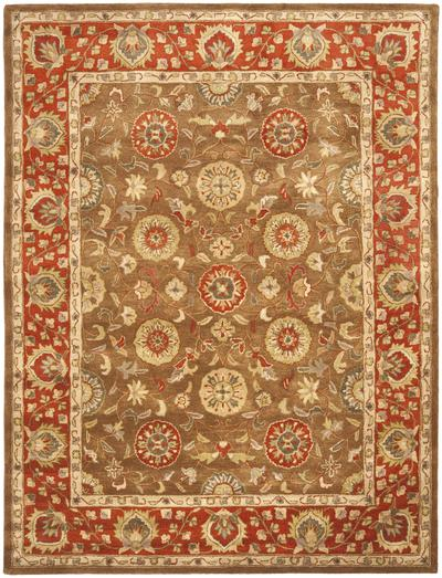 Safavieh Heritage HG963A Beige and Rust area rug