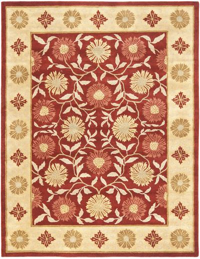 Safavieh Heritage HG970A Red and Beige area rug