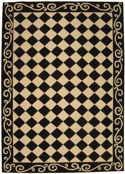 Safavieh Chelsea  HK711A Black and Ivory