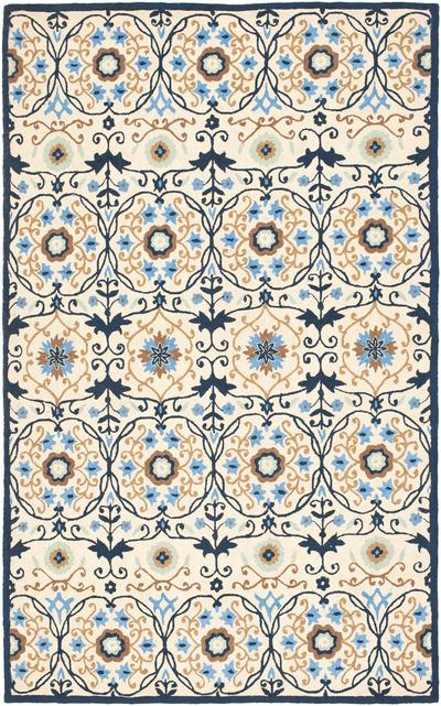Safavieh Chelsea HK727A Ivory and Navy area rug