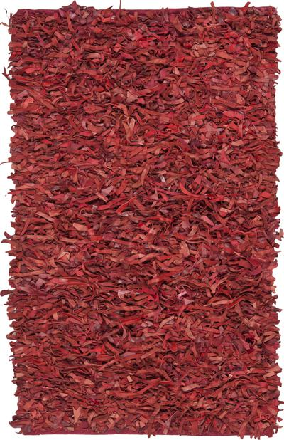 Safavieh Leather Shag LSG511D Red area rug