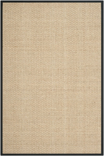 Safavieh Natural Fiber NF114C Natural and Black area rug